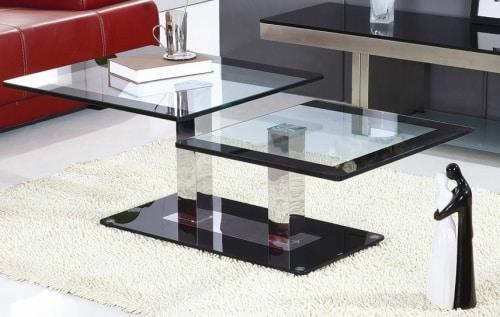 Moderný konferenčný stolík zo skla