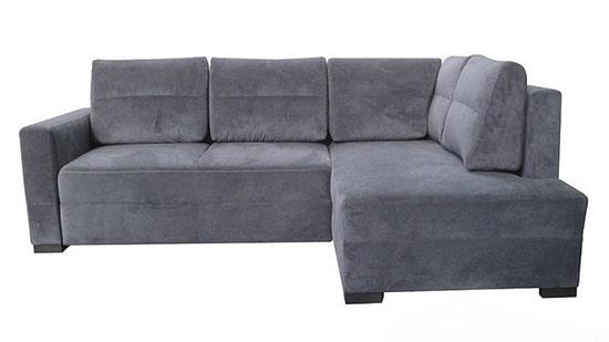 Sivá rohová sedačka