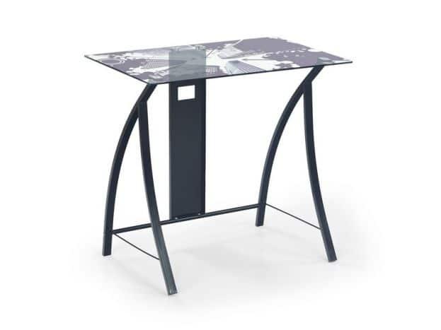 Pc stôl so sklenenou doskou