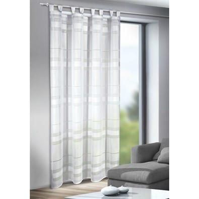 Moderná biela záclona