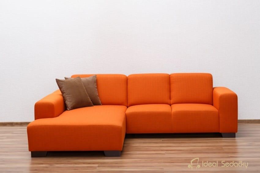 Oranžová látková sedačka
