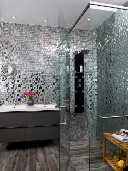 Sklenená mozaika do kúpeľne