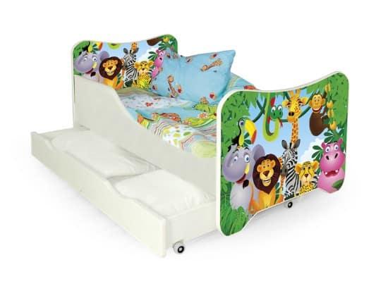 Detská posteľ so zvieratkami