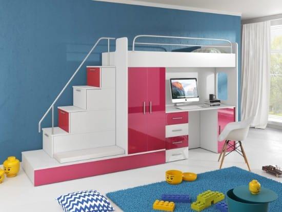 Moderná poschodová posteľ