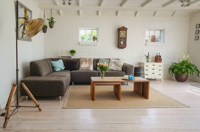 Obývačka v retro štýle