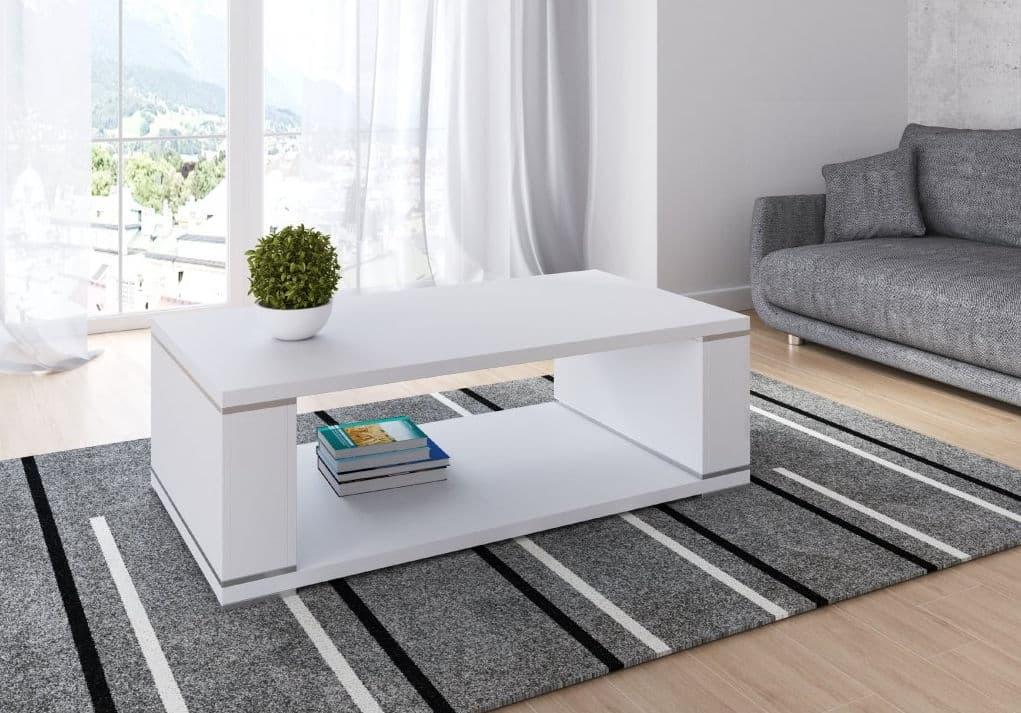 Moderný biely konferenčný stolík